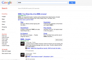 Risultati su Google.com